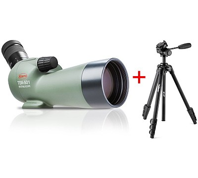 Kowa TSN-501 20-40x m/Velbon M47 stativ